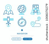 navigation and direction thin... | Shutterstock .eps vector #1008370279