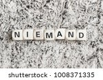 niemand   nobody in german | Shutterstock . vector #1008371335