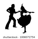 couple dancing silhouette   Shutterstock .eps vector #1008372754