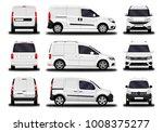 realistic cargo van. front view ... | Shutterstock .eps vector #1008375277