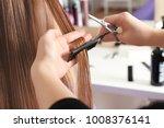 professional hairdresser...   Shutterstock . vector #1008376141
