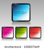 glassy square banner buttons