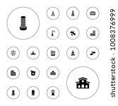 editable vector urban icons ... | Shutterstock .eps vector #1008376999
