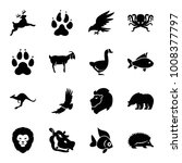 wild icons. set of 16 editable... | Shutterstock .eps vector #1008377797