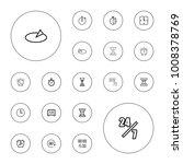 editable vector hour icons  24... | Shutterstock .eps vector #1008378769