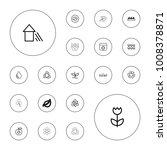 editable vector eco icons  leaf ...