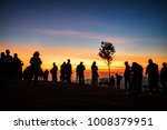 abstract blurred of people... | Shutterstock . vector #1008379951