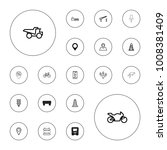 editable vector road icons  map ... | Shutterstock .eps vector #1008381409