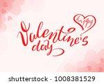 hand drawn valentines day... | Shutterstock . vector #1008381529