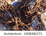 rusty chain. links of a rusty... | Shutterstock . vector #1008382171