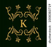 gold monogram design elements ... | Shutterstock .eps vector #1008383719