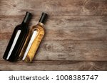 two bottles with red and white... | Shutterstock . vector #1008385747