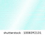 mint blue dotted halftone. half ... | Shutterstock .eps vector #1008392131