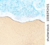 summer beach and soft wave... | Shutterstock . vector #1008392431