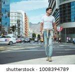 portrait of an elegant  young... | Shutterstock . vector #1008394789