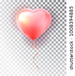 balloon pink heart . symbol of... | Shutterstock .eps vector #1008394885