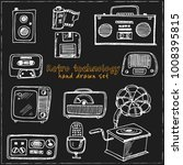 retro technology hand drawn... | Shutterstock .eps vector #1008395815
