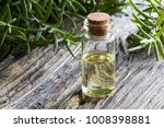 a bottle of rosemary essential...   Shutterstock . vector #1008398881