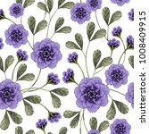 seamless floral pattern with... | Shutterstock . vector #1008409915