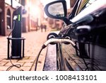 electric car is changing on... | Shutterstock . vector #1008413101