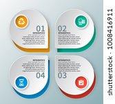 vector abstract 3d paper... | Shutterstock .eps vector #1008416911