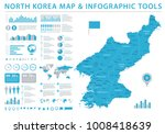 north korea map   detailed info ... | Shutterstock .eps vector #1008418639