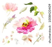 a set of watercolor elements... | Shutterstock . vector #1008420409
