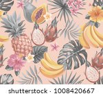 tropical seamless pattern with... | Shutterstock .eps vector #1008420667