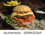 home made hamburger with...   Shutterstock . vector #1008422269