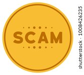 scam caption gold coin icon.... | Shutterstock .eps vector #1008426235
