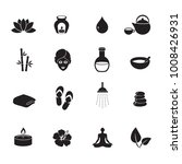 spa icon set. vector art.  | Shutterstock .eps vector #1008426931