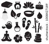 spa  beauty  wellness symbols. | Shutterstock . vector #1008427189