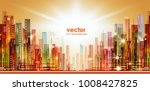 colorful night city background  ... | Shutterstock .eps vector #1008427825