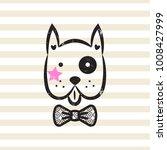 cute gentleman dog tshirt... | Shutterstock .eps vector #1008427999