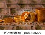 stack of golden on new design... | Shutterstock . vector #1008428209