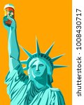statue of liberty holding up a... | Shutterstock .eps vector #1008430717
