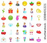 romantic history icons set....   Shutterstock .eps vector #1008431221