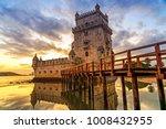 belem tower at sunset in lisbon ... | Shutterstock . vector #1008432955