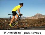 biking cyclist male athlete... | Shutterstock . vector #1008439891