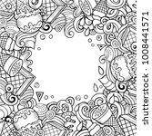 cartoon vector hand drawn... | Shutterstock .eps vector #1008441571