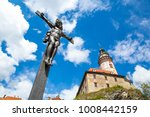 christ on the cross next to the ... | Shutterstock . vector #1008442159
