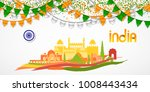 india republic day celebration. ... | Shutterstock .eps vector #1008443434