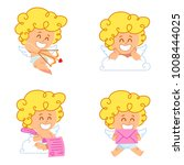 vector illustration of cupid in ... | Shutterstock .eps vector #1008444025