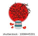 love tree. broken hearts.... | Shutterstock .eps vector #1008445201