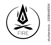 bonfire icon  circle flame logo | Shutterstock .eps vector #1008448504