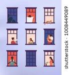 windows with neighbors doing...   Shutterstock .eps vector #1008449089