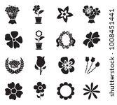 flowers icons. black flat... | Shutterstock .eps vector #1008451441
