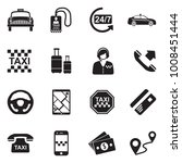 taxi icons. black flat design.... | Shutterstock .eps vector #1008451444