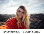 beautiful young woman with long ...   Shutterstock . vector #1008452887