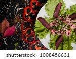 nourishing delicious meat salad....   Shutterstock . vector #1008456631